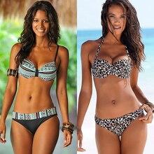 Women Bandeau Push Up Bikini Set Sexy Swimsuit 2020 Plus Size Europe Female Swimming Suit Beach Bathing Suit Swimwear S~XXL