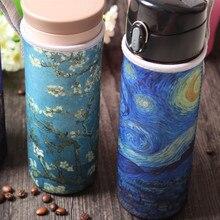 Производители, стеклянные бутылки изотермическая чашка набор настраиваемых картины маслом Ван Гога сто-картина по выбору Набор чашек a