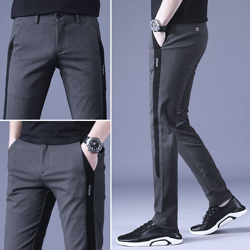 Combed cotton Leisure trousers New Golf Pants Young men Spring Autumn Self-cultivation Slim-fit Walking Office Big size 28 - 38