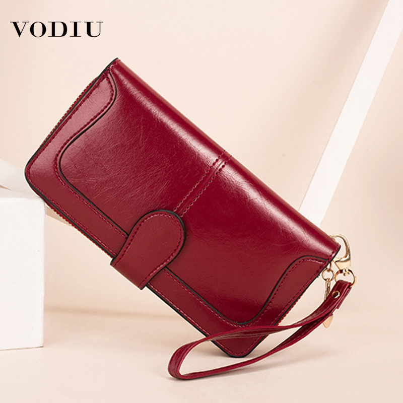 2019 Leather Women Wallet Zipper Hasp Designer New Ladies Fashion Wallet Long Wallets Phone Clutch Bag Card Holder Package Purse