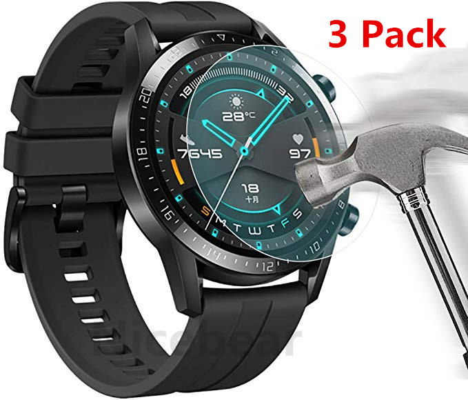 3 Pack for Huawei Watch GT 2 (46mm) GT2e Honor Magic 2 Tempered Glass Screen Protector 9H Smartwatch Protective Glass(China)