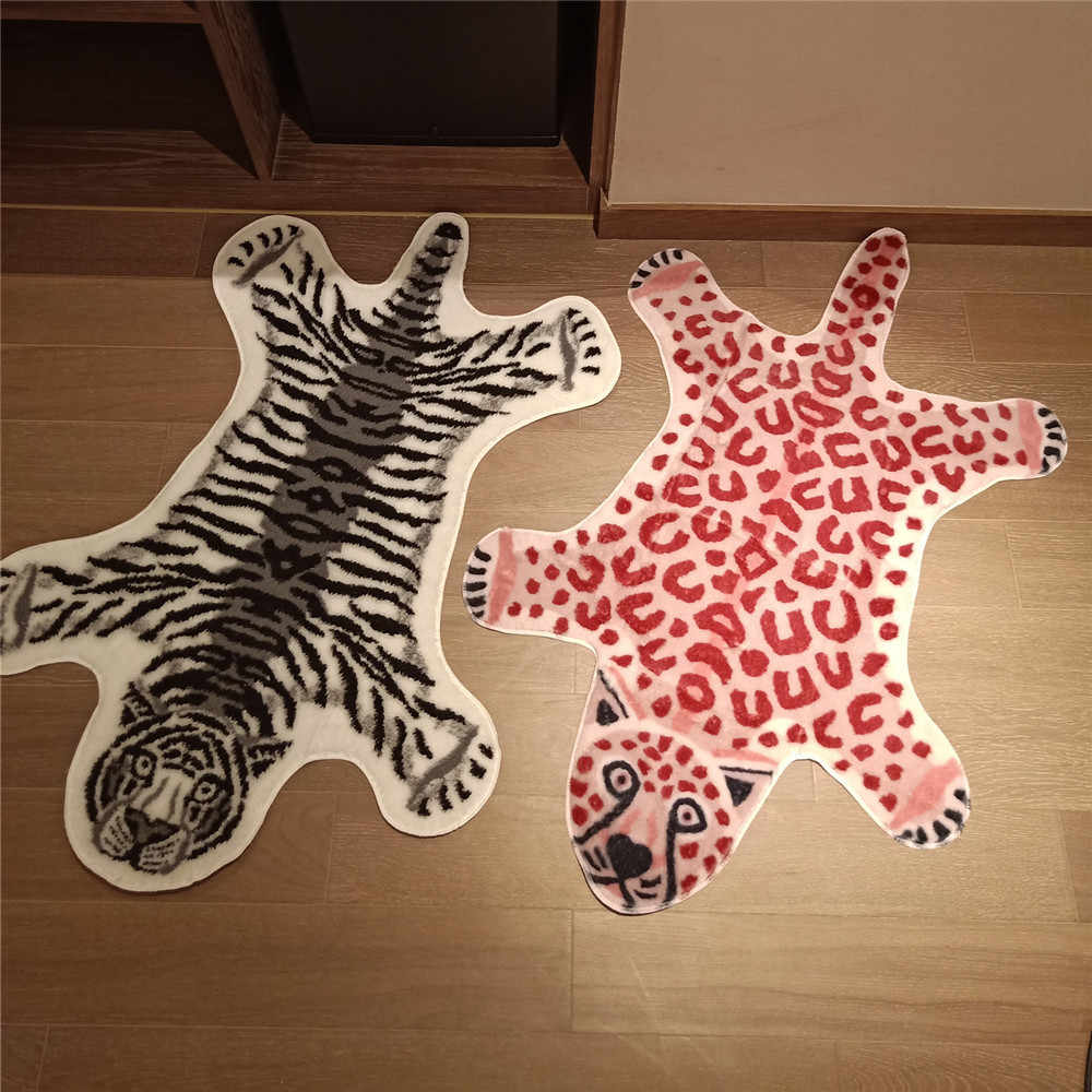 Hot Sale Rug Cow Leopard Tiger Printed Cowhide Faux Skin Leather Nonslip Antiskid Mat Animal Print Carpet Carpet Aliexpress