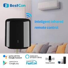 جهاز تحكم عن بعد بالواي فاي صغير للمنزل الذكي من Broadlink Bestcon 2020 RM RM4C يعمل بالأشعة تحت الحمراء يدعم شركة Fastcon من شركة Alexa من شركة أمازون وgoogle Home IFTTT