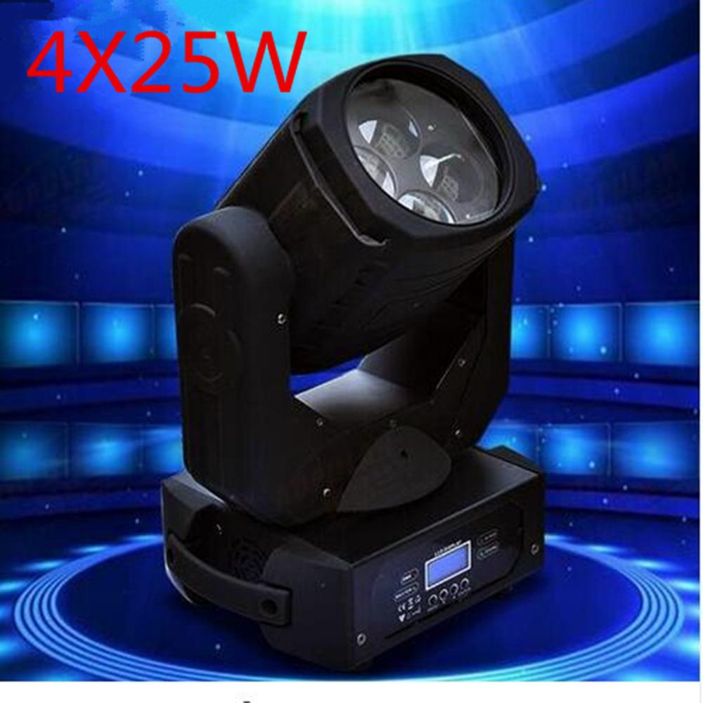 LED Super Beam 4x25W LED Moving Head Beam Light For Bar Effect Led Stage Lighting