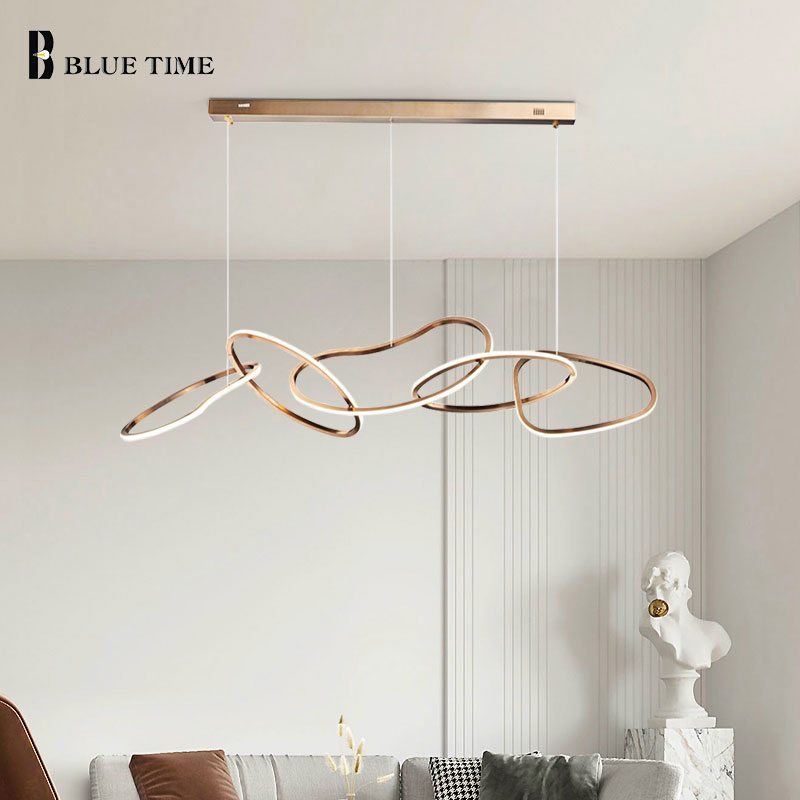 Modern LED Pendant Light Home Lights For Living Room Dining Room Bedroom Kitchen Parlor Indoor Lighting Gold LED Pendant Lamps
