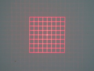 980nm Square Grid D10x10mm With 42 Degree Fan Angle Laser Module
