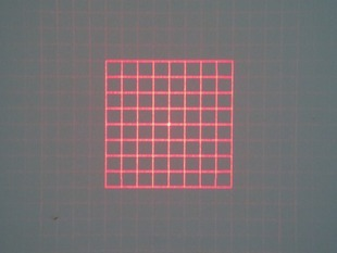 Customized 980nm Square Grid D10x10mm With 42 Degree Fan Angle Laser Module