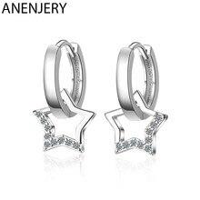 ANENJERY 925 Sterling Silber Zirkon Sterne Quaste Ohrringe ohrringe S-E786