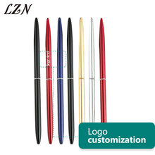 LZN Metal Ballpoint Pen Vintage Gold Silver Ball Point Metal Pen for Business Writing Gifts Office School Supplies Free shipping