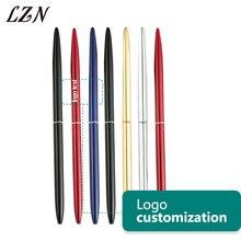 LZN מתכת כדורי עט בציר זהב כסף כדורי מתכת עט עבור עסקים כתיבה ספר ציוד משרדי משלוח חינם
