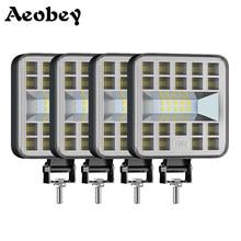 Aebey Luz LED de trabajo de 3 pulgadas, 12V, 24V, 87W, para camión, 4x4, Tractor, barco, Atv, foco reflector, luz antiniebla de conducción de coche