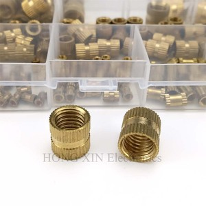 Image 3 - 210pcs/set Brass Cylinder Knurled Threaded Round Insert Embedded Nuts Kit with Plastic Box
