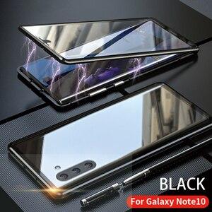 Image 2 - Dành Cho Samsung Galaxy Samsung Galaxy Note 10 Plus Pro Ốp Lưng Mặt Trước Và Mặt Sau Từ Kính Cường Lực 2 Mặt Kính Kim Loại Nhôm Bảo Vệ bao Da