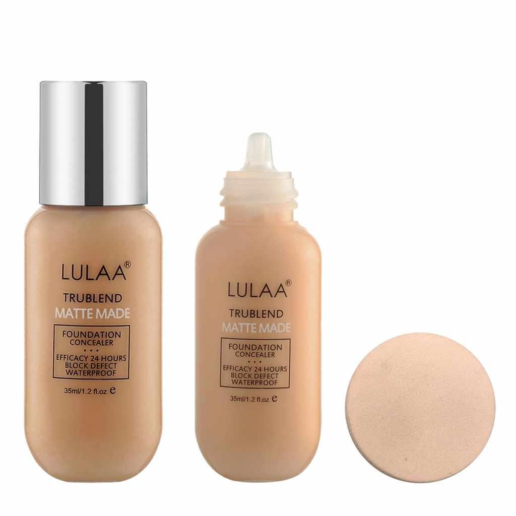 Volledige Cover Vloeibare Concealer Make-Up Schoonheid Cosmetica Langdurige Matte Waterdichte Concealer Hydraterende Foundation Crème