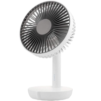5 Speeds Battery Operated Usb Desk Fan, Whisper Quiet, W/ Portable Charger Feature, 6 Inch Perfect Small Personal For Outdoor Ac