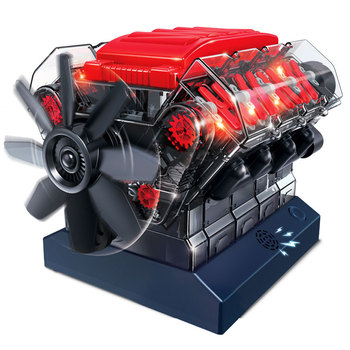 methanol generator fuel engine small micro internal combustion engine oil moving model educational toy mini engine New Simulation Engine Toy V8 Model Kits Puzzle Engines Toys Children Adult Toys High Tech Eight-Cylinder Car Engine Model Toy