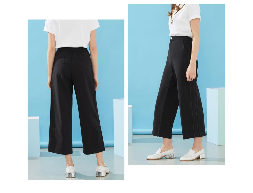 Heb31edf25c704d15a4dd64ae393a323dy - Metersbonwe Wide Leg Loose Pantd High Waist Women Spring Autumn Long Trousers Female Office Lady Casual wild wide-leg pants