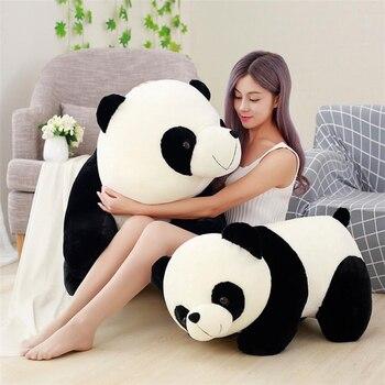 Cute Panda Big Giant Panda Bear Plush Stuffed Animal Doll Toy Pillow Cartoon Kawaii Dolls Girls Christmas Gifts