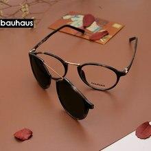 Ultem – lunettes de soleil polarisées rondes Vintage pour femmes et hommes, monture optique avec Clip magnétique, pour ordinateur, X3184
