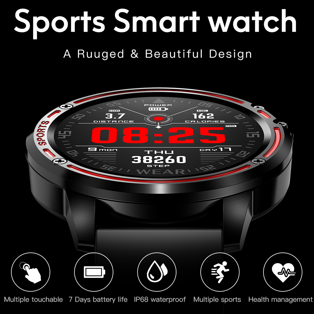 Heb3227595a0a4e79adb5f7590070acbdZ L8 Smart Watch Men Fitness Tracker Heart Rate Blood Pressure Monitoring Smart Bracelet Ip68 Waterproof Sports Smartwatch