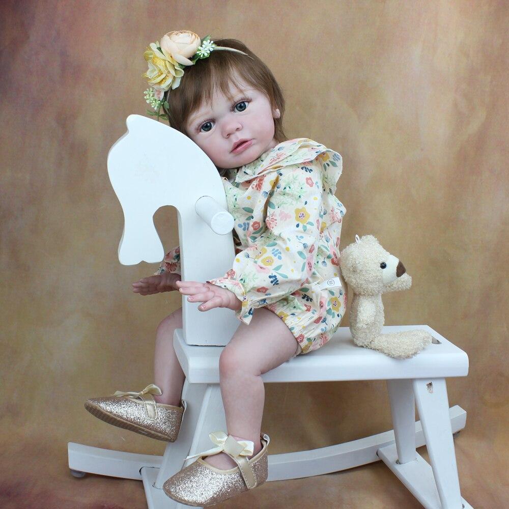 60 см реального прикосновения Reborn для маленьких девочек готовой Тайра кукла ткань тела Секс игрушки Реалистичные 24 дюйма мягкий силиконовый принцесса малыша живой Bebe|Куклы|   | АлиЭкспресс