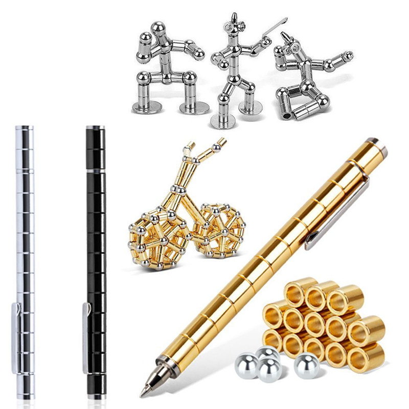 Creative Modular Polar Pen Magnetic Magnets Ball TOY Touch Pen With 12 Steel Balls Adult TOY Gift Hot