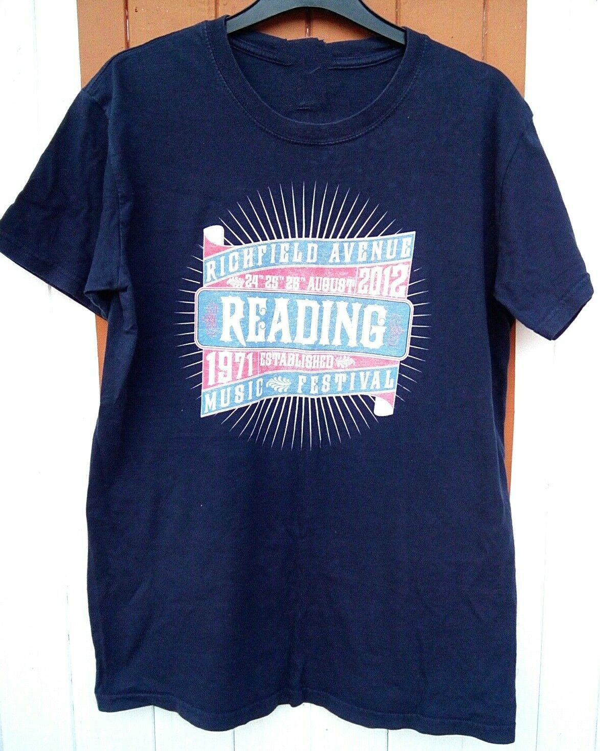 Reading Festival 2012 T-Shirt - Foo Band Fighters, Kasabian Unisex Size S-3Xl image