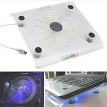 1 шт. usb-вентилятор для ноутбука синяя светодиодная подсветка радиатора подставка для портативного компьютера охлаждающая подставка для компьютера теплоотвод кронштейн случайный цвет