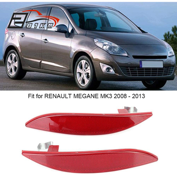 281KM Reflector de parachoques trasero luz lente 265650004R para Renault Megane MK3. Grandtour Fluence