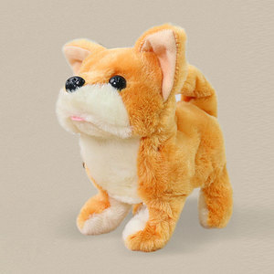 Image 4 - Robot Dog Electronic Dog Plush Puppy Jump Wag Tail Leash Teddy Toys Walk Bark Funny Toys For Children Birthday Gift