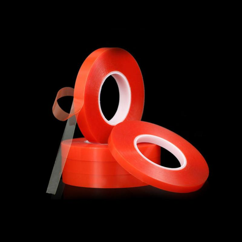 15mm Red Double Sided Adhesive Tape High Strength Acrylic Gel Transparent No Traces Sticker For Phone Tablet LCD Screen Glass