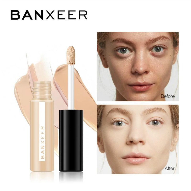 BANXEER Concealer Makeup Full Cover Concealer Eye Dark Circles Cream Face Corrector Foundation Base Cosmetic image