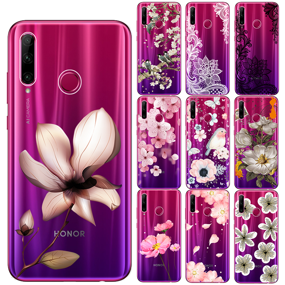 <font><b>Sexy</b></font> Retro Floral Soft TPU Case Cover For Huawei <font><b>Mate</b></font> 10 <font><b>20</b></font> 30 Lite Pro Honor 9 10 <font><b>20</b></font> Lite Pro 10i 8X 9X Pro Lace Flower Cases image