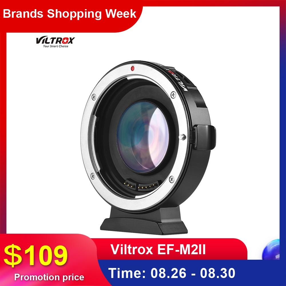 Viltrox Adapter-Ring Lenses Camera Auto-Focus-0.71x EF-M2II Four-Thirds Canon Eos Micro