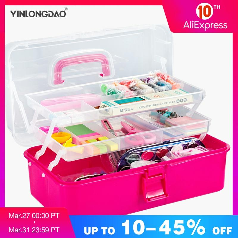 Plastic Storage Box Medicine Box Organizer 3 Layers Multi-Functional Portable Medicine Cabinet Family Emergency Kit Tool Box
