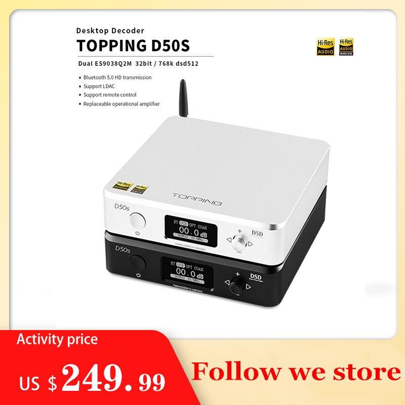 Декодер Hi-Fi TOPPING D50s ES9038Q2M * 2 DAC Bluetooth 5,0 LDAC D50 DSD512 32 бит/768 кГц