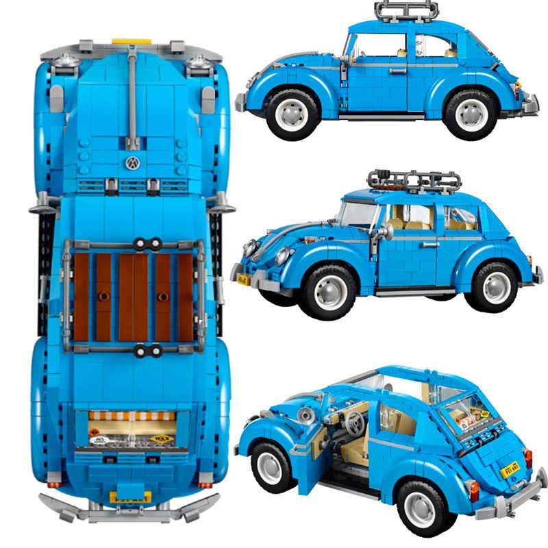 1162 pçs blocos de construção compatível para legoing cidade carro volkswagen beetle criador série modelo crianças presente natal brinquedos