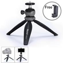 XILETU XS 20 Mini Tabletop Tripod Desktop Phone Holder Stand with Clip and Ball Head for Smartphone Smartphone DSLR Camera