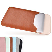 Magnetic PU Leather Laptop Sleeve Bag For Xiaomi Macbook Pro 13 Case Air 11 12 Retina 2018 New 15 Touch Bar Business Cover(China)
