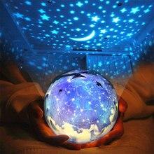 цена на Moon Planet Projector Lamp Magic Star Starry Sky LED Night Light USB Battery LED Light Baby Kid Novelty Christmas Gift Moon Lamp