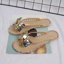 Woman PVC Sandals Shoes Rhinestones Summer Shoe