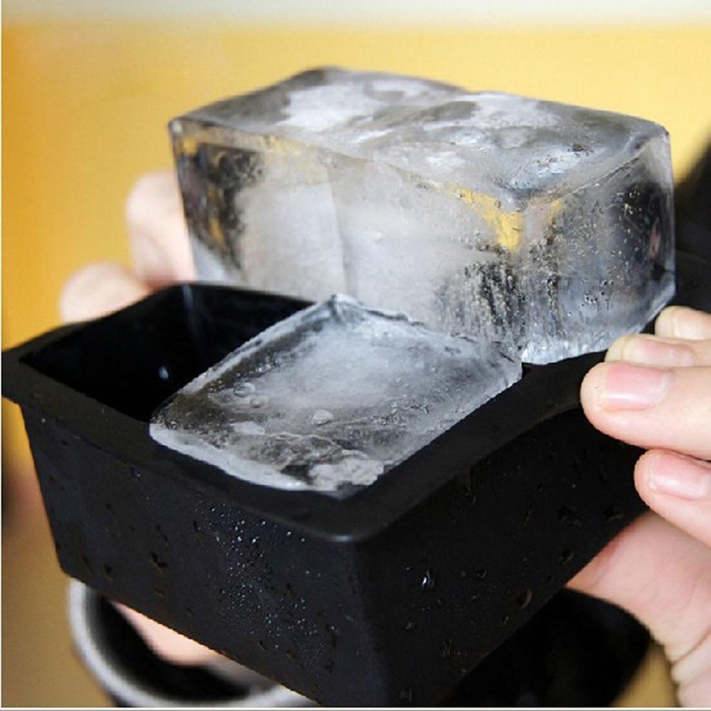 4-полость большие силиконовые напиток кубика льда Пудинг Для желе для мыла плесень лоток для инструментов