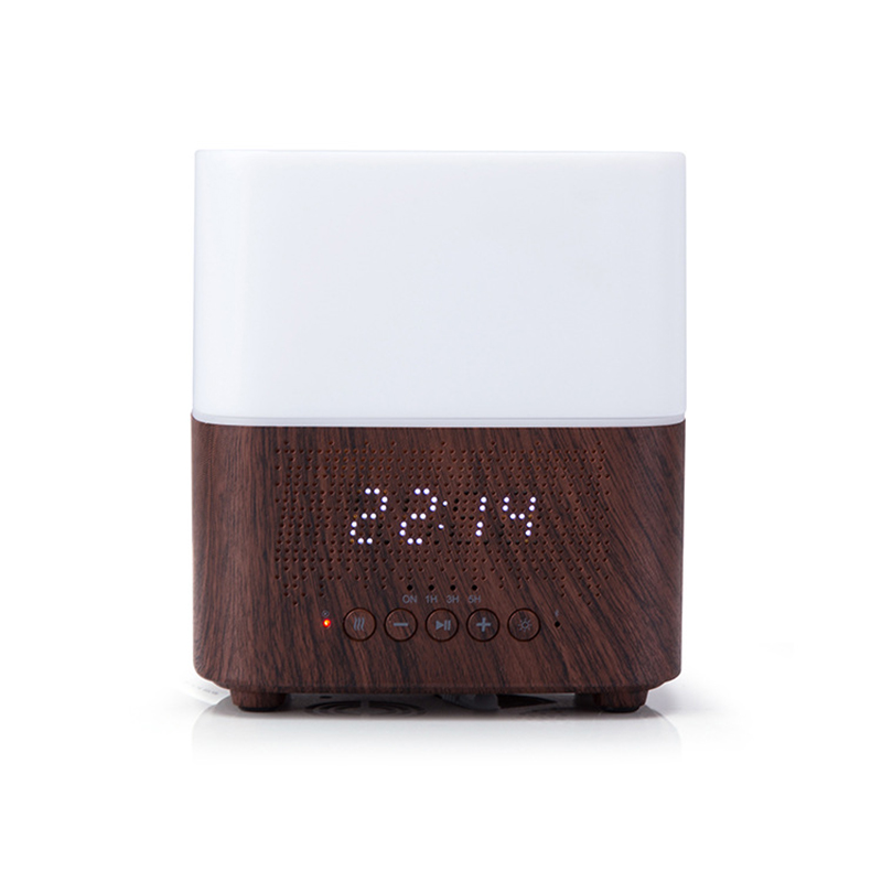 300Ml Multifunctional Bluetooth Aroma Oil Diffuser with Alarm Clock Aromatherapy Ultrasonic Air Humidifier for Room Home Office|Humidifiers| |  -