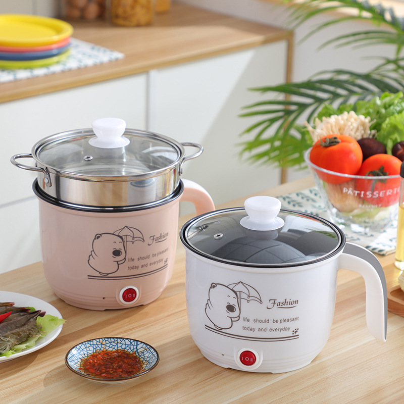 220V Mini Rice Cooker Electric Cooking Machine Single Double Layer Available Hot Pot Multi Electric Rice Cooker 1.8L