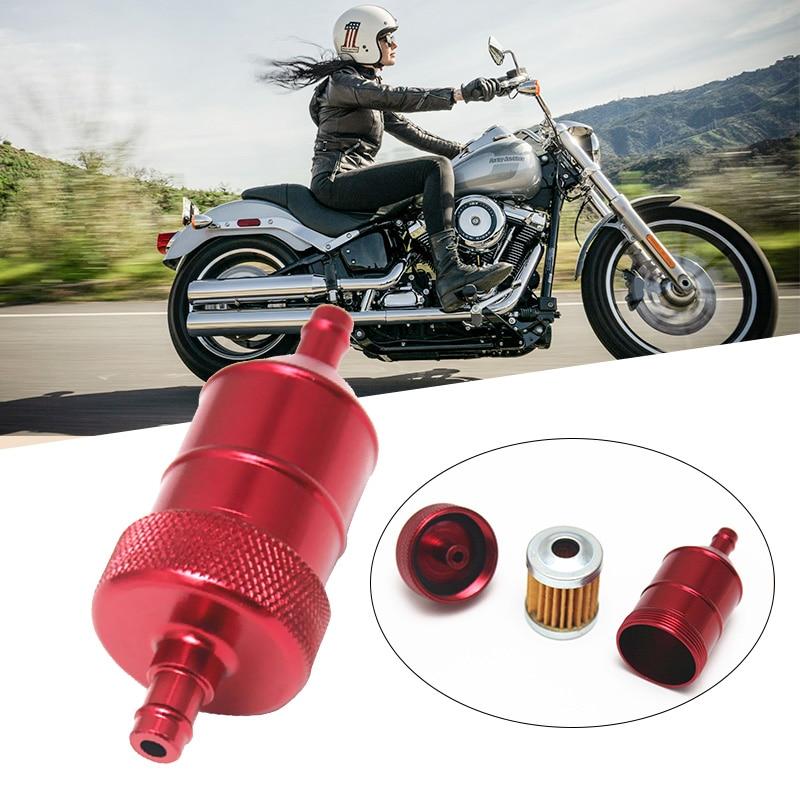 Image 3 - 1 шт. 8 мм 5/16 ''Универсальный хромированный алюминиевый встраиваемый топливный фильтр для мотоциклы мотороллеры Quads ATV и т. д. 40 микрон фильтрующий элемент-in Топливные фильтры from Автомобили и мотоциклы