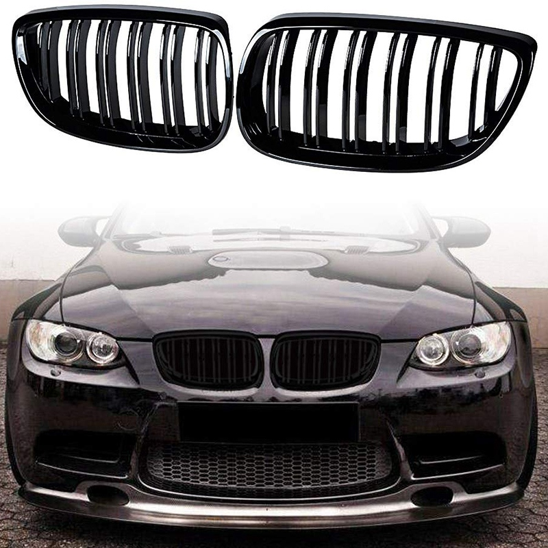 2Pcs Front Bumper Kidney Twin Fins Sport Grill Grille for BMW E92 E93 M3 2006 2009 08 13 3 Series M3(E92/E93) 07 10 E92 2D Coupe|Racing Grills| |  - title=