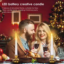 Electronic LED Tea Light Candles Flameless Swing Battery-Powered Candles For Home Party Wedding Birthday Romantic Dinner decor everbrite 24pc led tea light candles flickering flameless lamp for home decoartion party wedding xmas candles light