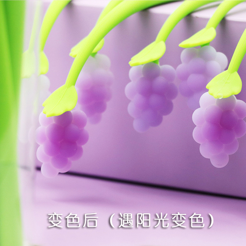 Discoloration In Sunlight Creative Grape Gel Pen Cute Stationery Personalized Gifts