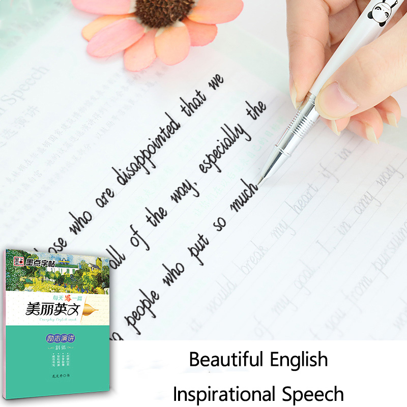 New Arrival 1 Pcs/set English Calligraphy Copybook For Kids Children Write Beautiful English Quickly Exercises Calligraphy Books