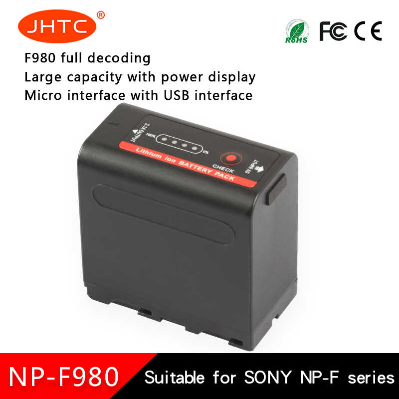 Canon baterii NP-F980Exp NP F980 dla Sony CCD-TRV35 CCD-TRV940 CCD-RV100 CCD-TR415E DCR-TR7Series baterie 8700mah